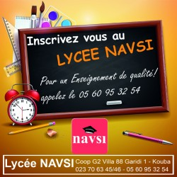 Inscription au lycée NAVSI